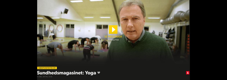 DR Sundhedsmagasin omkring virkningen af yoga - December 2017